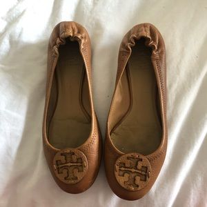 Tory Burch Royal Tan Reva flats